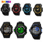 SKMEI Men's LED Digital Alarm Date Military Sports Army Waterproof Quartz Watch image