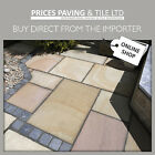 Rippon Calibrated Indian Sandstone patio paving slabs 17m2 pack or Octagon Kit