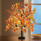 Lighted Fall Maple Tree Table Sitter