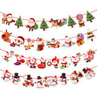 Внешний вид - Christmas Party Hanging Decor Snowman Santa Claus Elk Sock Banner Xmas Supply