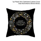 Купить Christmas Pillow Case Glitter Cotton Linen Sofa Throw Cushion Cover Home Decor