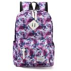 Women Floral Printed Camping Office Laptop Hiking School Canvas Backpack Bookbag