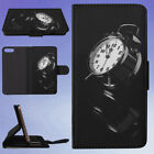 REFLECTION CLOCK ALARM CLOCK FLIP WALLET CASE FOR APPLE IPHONE PHONES