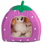 5 Colors Animal Pet Cat House Dog  Puppy Bed Strawberry Cave Dog Cat House Tent