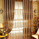 Luxury balcony window curtains embroidery cloth & tulle Egyptian Yellow curtain