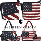 American Flag Stars and Stripes Concealed Carry Purse Crossbody Handbag Wallet image