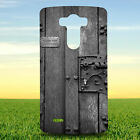 WOODEN DOOR IN GRAYSCALE PHOTOGRAPHY HARD BACK CASE COVER FOR LG PHONES