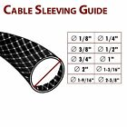 (Black) PVC Expandable Braided Cable Sleeving Sleeve Wire Weave Protector Guard