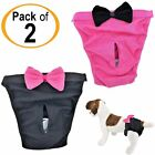 Внешний вид - PACK of 2 Dog Diapers Female Cat for SMALL and LARGE Pets 100% Cotton Pink Black