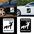 EP_ BEWARE OF DOG Pattern Warning Car Stickers Self-adhesive