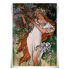 Alphonse Mucha`s Painting Poster Cloth Print 30cmx42cm Wall Art Home Decor