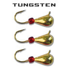 3-Pack-Tungsten-Ice-Fishing-Jigs-GOLD-WITH-RED-BEAD-6-Size-Variations