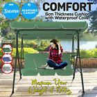 3 Seater Outdoor Swing Chair Hammock Garden Canopy Bench Seat Cushion Furniture