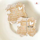 50pcs craft paper hang tags Christmas party favor label price Xmas gift cardEP