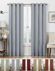 2 Pack: Regal Home 100% Blackout Grommet Top Hotel Curtains - Assorted Colors