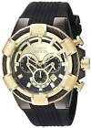 Invicta Men's Quartz Stainless Steel and Silicone Casual Watch, Color:Black (Mod