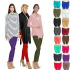Fleece Leggings Thick Winter Lined Warm Solid Size S,M,L Womens Waist Thermal