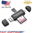 GDS Micro USB OTG to USB 2.0 Adapter SD Card Reader For Android Phone Tablet New