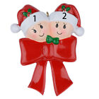Bow Family Of 2 3 Resin Christmas Tree Ornaments Personalized Christmas Gifts