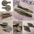 pack of 4 Bronze Colour Hair Clip with Filigree, Alligator clip Crocodile clips