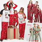 Fairy Christmas Family Pajamas Set Adult Kids Sleepwear Nightwear Strip New Year
