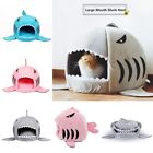 Washable Dog Cat Bed Big Mouth Shark  Nest Warm House Pet Sleep Kennel Removable