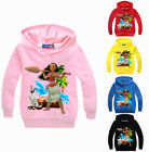 Kids Boys Girls Moana Hoodies Casual Cartoon SweatShirt Hoodie Tops Clothes
