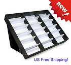 18 Slot Eyeglass Sunglasses Glasses Storage Case Display Grid Stand Box Holder~