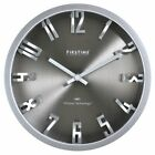 FirsTime Steel Dimension Wall Clock, Gray