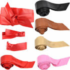 US Women Leather Soft Self Tie Bowknot Band Wrap Around Sash Belt Plus Size