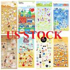 Buy 1 get 4 free Anime Animal Food Toy Gel Puffy Felt Crystal Stickers Edition 2