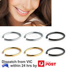 2-6pcs Stainless Steel Clip On Nose Lip Helix Tragus Ear Fake Piercing Hoop Ring