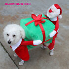 Dog Puppy Pet Funny Christmas Santa Clause Gift Presents Box Dog Costume
