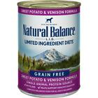 Natural Balance L.I.D. Sweet Potato and Venison Canned Dog Food