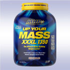 MHP UP YOUR MASS XXXL 1350 (6 LB) anabolic protein weight gainer bcaa cla t-bomb