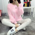 Women Casual Winter Long Sleeve Loose Thick Turtleneck Fluffy Sweater Pullover