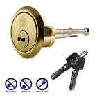 Security Rim Cylinder Door Lock Satin Brass Finish, Yale ERA Latch fitment