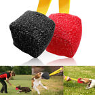 Square Jute Dog Training Bites Ball with Strong Handle for Training Young K9