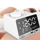 Digital Bluetooth Alarm Clock Speaker Large LED Dual Port USB Charger FM Radio