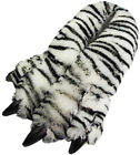 Mens Womens Unisex Soft Plush Fun Winter Animal Claw Paw Feet Indoor Slippers