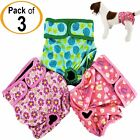 PACK of 3 Female Dog Diapers Cat LEAK PROOF Waterproof Washable Small Large Pet <br/> PREMIUM Quality! 4-LAYERS of Absorbent Pads. FAST Ship!