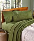 Brushed Fleece Sheet Sets Warm Soft Comfortable Anti-Pill Olive Chocolate Spice image