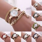 Women PU Leather Strap Quartz Watch Ladies Casual Bracelet Fashion Wrist Gifts image