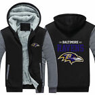 Baltimore Ravens Fan Hoodie Fleece zip up Coat winter Jacket warm Sweatshirt hot on eBay
