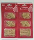 200 GOLD Christmas Ornament tree Hook Decoration Hanger Wire 3 Sizes(S, M, L)