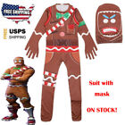FORTNITE MERRY MARAUDER HALLOWEEN COSTUME GINGERBREAD COSPLAY KIDS PARTY GIFT
