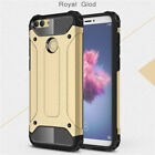 New Slim 2-Piece Hybrid Luxury Armour Shock Proof Case Cover For Huawei P Smart