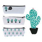 Kawaii Cactus Pencil Case Canvas Pencil Box Pen Bags School Supplies Stationery