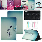 """For 7"""" 7 Inch Tablet Bluetooth Keyboard Universal Pattern Leather Case Cover WQ"""