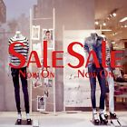 2x SALE Now On Shop Window Glass Sign Retail Store Decal Vinyl Stickers 27x18 v7